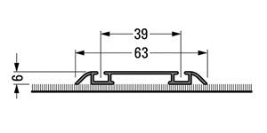 Vloerrail, opbouw, 2-gangs, gesloten