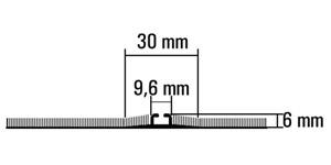 Vloerrail, inbouw, 1-gangs, bv. in tapijt