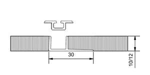 Vloerrail voor tegelvloer, inbouw, 1-gangs