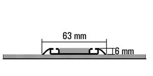 Vloerrail, opbouw, 2-gangs