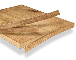 Bordi in vero legno, impiallacciati e massello di Ostermann