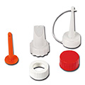 ipic1 Nozzle set for glue bottles, with pointed,