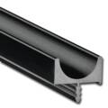 ipic1 Aluminium handle Blues 1, anodised black, m